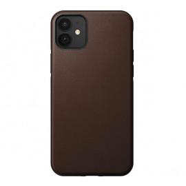 Nomad Rugged Leather Case iPhone 12 Mini bruin