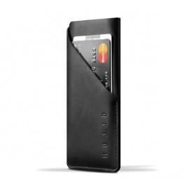 Mujjo Coque Portefeuille en cuir - Housse -  iPhone 7 / 8 / SE 2020 - Noire