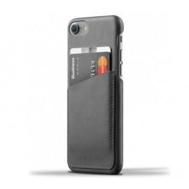 Coque portefeuille Mujjo en cuir pour iPhone 7 / 8 / SE 2020 gris