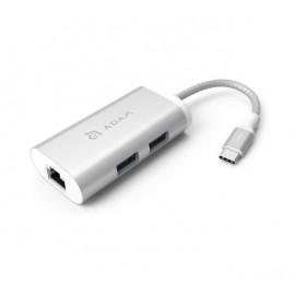 ADAM elements CASA Hub eC301 3-in-1 USB-C zilver