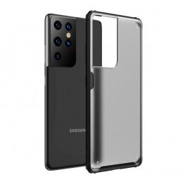 Casecentive - Coque Antichoc Samsung Galaxy S21 Ultra - Noire Mat