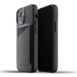 Mujjo - Coque cuir iPhone 13 portefeuille - Noir