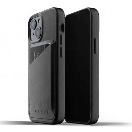 Mujjo - Coque cuir iPhone 13 Mini portefeuille - Noir