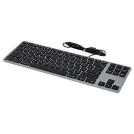 Matias - clavier filaire QWERTY sans pavé numérique pour MacBook -  gris métallisé