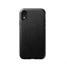 Nomad Rugged Coque iPhone XR En cuir Noire