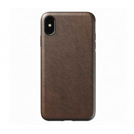 Nomad Rugged - Coque iPhone XS Max en cuir - marron