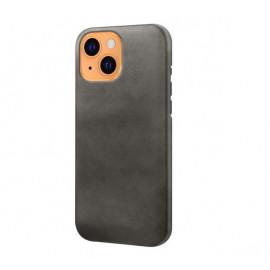 Casecentive - Coque en cuir iPhone 13 - Noir