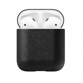 Nomad Etui en cuir écouteurs sans fil | Boite AirPods Noir