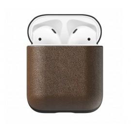 Nomad Etui en cuir écouteurs sans fil | Boite AirPods Marron