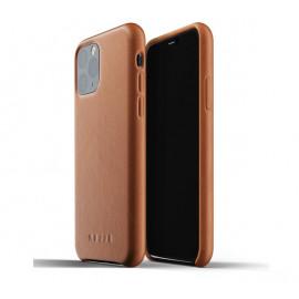 Mujjo - Coque iPhone 11 Pro de protection - en cuir - Marron