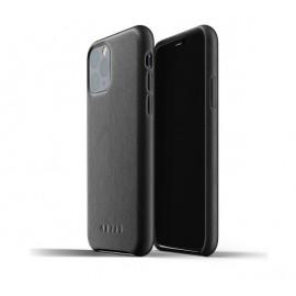 Mujjo - Coque iPhone 11 Pro de protection - en cuir - Noire