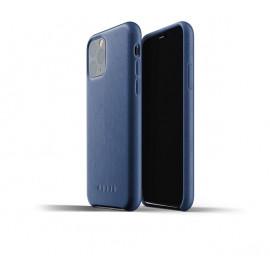 Mujjo - Coque iPhone 11 Pro de protection - en cuir - Bleue