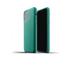 Mujjo - Coque iPhone XI de protection - en cuir - Vert