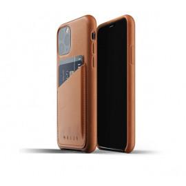 Mujjo - Coque iPhone 11 Pro portefeuille - en cuir - Marron