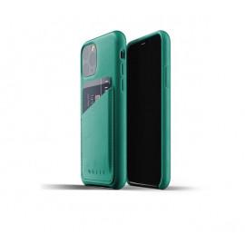 Mujjo - Coque iPhone 11 Pro portefeuille - en cuir - Vert