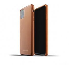 Mujjo - Coque iPhone 11 Pro Max de protection - en cuir - Marron