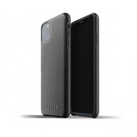 Mujjo - Coque iPhone 11 Pro Max de protection - en cuir - Noire