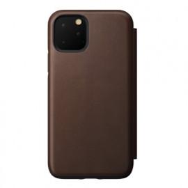 Nomad Rugged Folio Étui portefeuille en cuir iPhone 11 Pro Marron