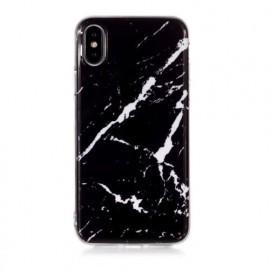 Casecentive - iPhone X / XS - Coque Rigide Ultra Fine - Marbre Noir