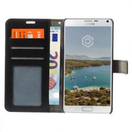 Casecentive Coque Portefeuille pour Samsung Galaxy Note 4 Noire