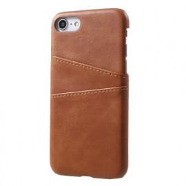 Casecentive Coque Dos Portefeuille iPhone 7 / 8 / SE 2020 Brune