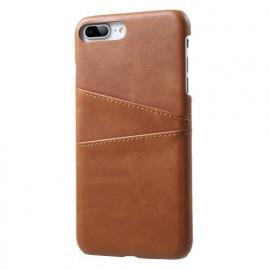 Casecentive Coque Dos Portefeuille iPhone 7 / 8 plus Brune