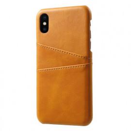 Casecentive Coque Dos Portefeuille iPhone X / XS Dorée