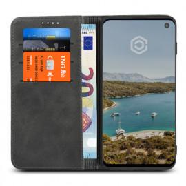 Casecentive Coque Portefeuille Cuir Samsung Galaxy S10 Noire