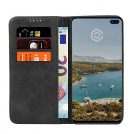 Casecentive Coque Portefeuille Cuir Samsung Galaxy S10e Noire