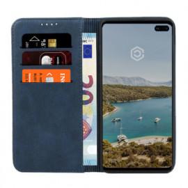 Casecentive Coque Portefeuille Cuir Samsung Galaxy S10 bleue