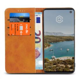Casecentive Coque Portefeuille Cuir Samsung Galaxy S10 Dorée
