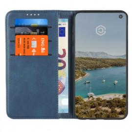 Casecentive Coque Portefeuille Cuir Samsung Galaxy S10e bleue