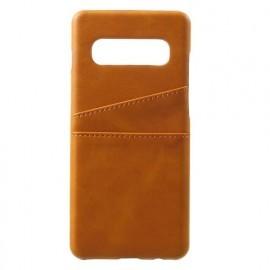 Casecentive Dos Portefeuille Samsung Galaxy S10 Marron / Brun