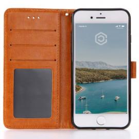 Casecentive Coque Portefeuille iPhone 7 / 8 / SE 2020 Marron Brun