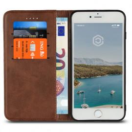 Casecentive Coque Portefeuille Cuir iPhone 7 / 8 Plus Marron