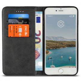 Casecentive Coque Portefeuille Cuir iPhone 7 / 8 / SE 2020 Noire