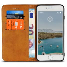 Casecentive Coque Portefeuille Cuir iPhone 7 / 8 / SE 2020 brune