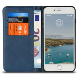 Casecentive Coque Portefeuille Cuir iPhone 7 / 8 / SE 2020 bleue