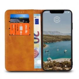 Casecentive Coque Portefeuille Cuir iPhone XS Max Brune