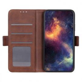 Casecentive - Étui portefeuille iPhone 12 magnétique - Marron
