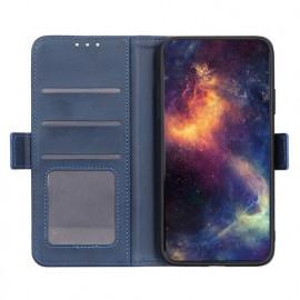 Casecentive - Étui portefeuille iPhone 12  / iPhone 12 Pro magnétique - Bleu