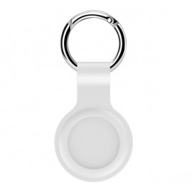 Casecentive -  Coque porte-clés pour AirTag en silicone - Blanc