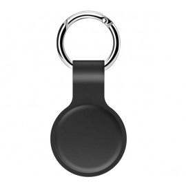 Casecentive -  Coque porte-clés pour AirTag en silicone - Noire