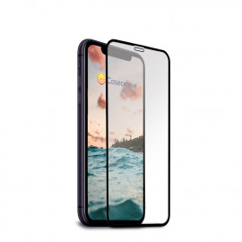Casecentive - Vitre de protection en verre trempé - 3D Couverture totale - iPhone X / XS