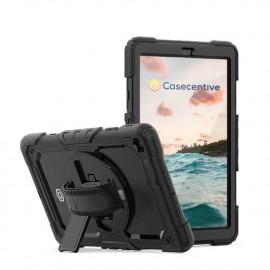 Casecentive Handstrap Pro - Coque Galaxy Tab A7 10.4 2020 avec poignée rotative -  Noire