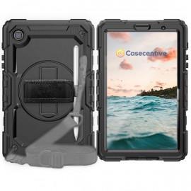 Casecentive Handstrap Pro Hardcase met handvat Galaxy Tab A7 Lite 8.7 2020 zwart