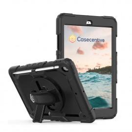 "Casecentive Handstrap Pro - Coque Antichoc Poignée Rotative - iPad 10,2"""