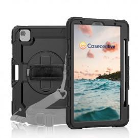 Casecentive Handstrap Pro - Coque iPad Air 10.9 2020 avec poignée rotative - Noire