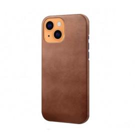 Casecentive - Coque en cuir iPhone 13 - Brun