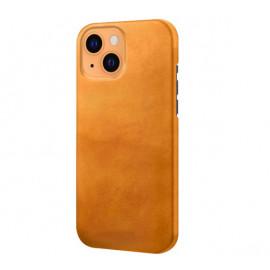 Casecentive - Coque en cuir iPhone 13 Mini - Marron / Brun